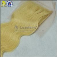 Luxefame hair real tangle free brazilian virgin human hair weave, wholesale top quality brazilian lace closure 613