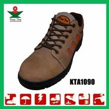 Popular cow leather steel toe waterproof cheap safety footwear