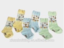 anti slip with cartoon pattern lovely baby sock