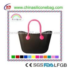 Silicone Fashion environmental bags colorful beach bag security bag light bag silicone fashion beach shoulder bag