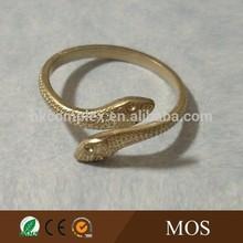 fashion gold brass snake bangle bracelet with crystal