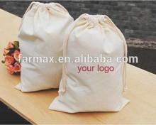 2015 Farmax best quality cotton drawstring shopping shoe bag