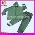 Pvc verde impermeable / traje de lluvia