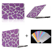 Purple Protective Case For Macbook pro retina with keyboard protector