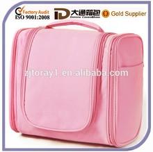 Pink Womens 3 Space Hanging Toiletry Bag Travel Organizer Wash Case