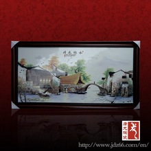 Modern style high gloss porcelain decorative board landscape oil painting for best sale