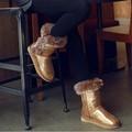 de laine de mouton hiver botte de neige de conception des femmes chaussures de luxe