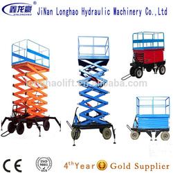 telescopic lift/electric moto 8m mobile scissor lift made in China