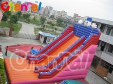 0.55mm PVC giant inflatable slip and slide