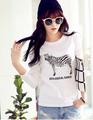 Roupa por atacado! 2015 verão nova moda t-shirt das mulheres impressão zebra camiseta cartoon