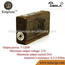 100% Authentic Wood Box Mod Tesla 120w vapor flask v2