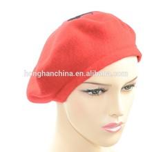 Design moderno vermelho boina com lã