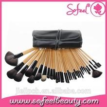 32 pcs makeup brush set with wood handle cosmetic brushes