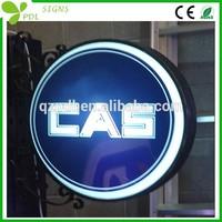 Custom Vacuum Acrylic Round Light Boxes Sign