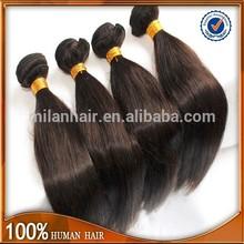 Brazilian silky straight remy human hair weft/hair go straight