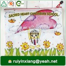 school stationery a4 size plastic zip lock folder bag for students RYX-ZP10