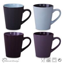 2015 newly black matte mug embossed ceramic craft
