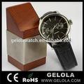 Relógio mecânico automático com sappire redondo de vidro, alta qualidade relógios homem superior 2014