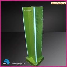 China Supplier 2015 Hot New Products 4-side Detachable Pegboard Display Stand LED Light Advertising Display Supermarket Shelf