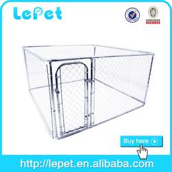 cheap large galvanize tube dog kennel travel