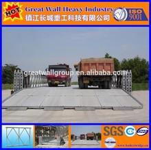 Double lanes bailey bridges HD200, 18.288M 60FT Triple truss,Single Storey,reinforced Steel galvanized for vehicles passing