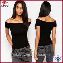 Fashion women clothes stripe mini women T-shirt with in purity