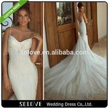 Custom Made Spaghetti Strap Tulle Alibaba Wedding Dress 2014 Galia Lahav