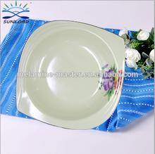 """Cheap 11"""" Unique shape melamine dinner plate"""