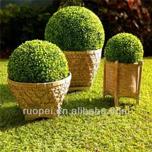 Naturale artificiale palla bosso arte topiaria/artificiale plastica erba bosso palla per il giardino