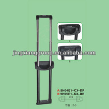 2015 best staggered cheaper luggage handle parts aire case handle parts made in china