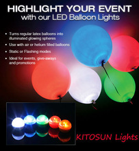 Waterproof Mini flashing LED light up glowing ballons for wedding