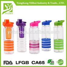 100% BPA Free 25 OZ Tritan fruit infusion plastic water bottle