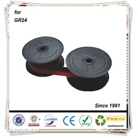 GR24 GR41 GR42 Purple And Black For Toshiba Compatible Spool Nylon Printer Ribbon For Calculater