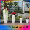 best price round colorful flashing led flower pots/vase