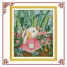 NKF cute girl rabbit(2) cross stitchery patterns