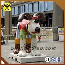 Outdoor decoration fiberglass animals sculptures