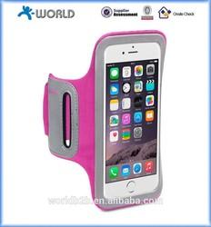 neoprene elastic velcro sport armband for iphone 6