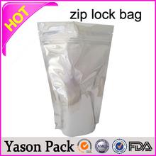 YASON folding shopping zip bags gold printed caution ziplock bag doypack zipper pouch