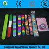 1 inch wholesale china special price promotional gift LOGO print colorful silicone slap bracelets custom silicon slap bracelets