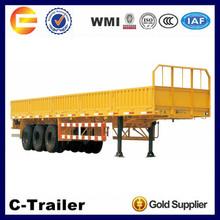 high quality 3 axles side panel coal bulk carrier truck trailer