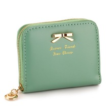 China Colorful Lovely Purse Clutch Small PU Leather with Card Hold Cheap Ladies Wallets SV002747