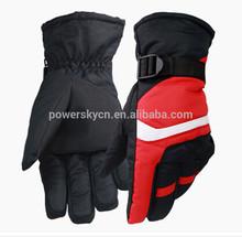 2015 hot sale red polyester taslon winter gloves men