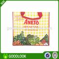 doblado tela tejida de vegetales frescos bolsa de embalaje