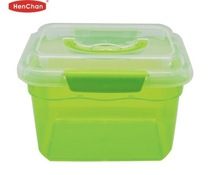 easy lock clear with handle plastic container