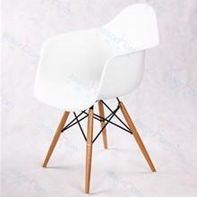 PP DAR Dining Chair (Wood legs)#APC10/plastic dining chair in wood leg/wooden chair with PP/PP dining chair in mat