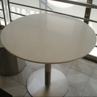 Round acrylic solid surface table tops for hot sale