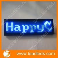 PORTABLE USB PROGRAM MUTI LANGUAGE DISPLAY BLUE DIGITAL LED NAME BADGE