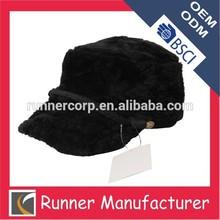 winter fur hat and cap flush