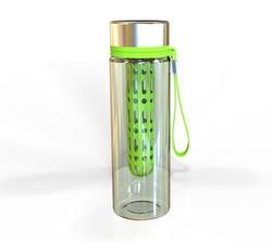 fruit infuser water bottle,tritan fruit infuser with stainless steel cap ,fruit infuser water bottle with filter