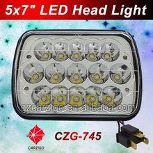 "Top quality 12volt flood/spot light optional oblong shape 7"" semi-truck led lite"